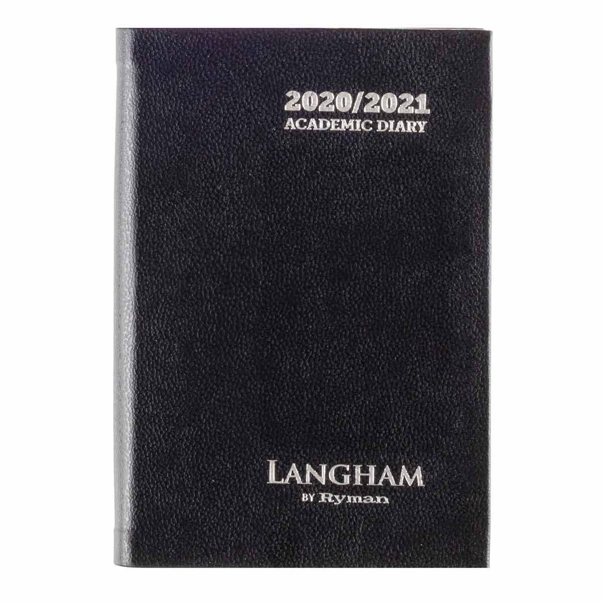 Langham Diary Week to View Pocket 2020-2021 Black