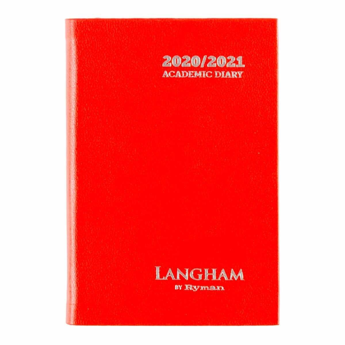 Langham Diary Week to View Pocket 2020-2021 Red