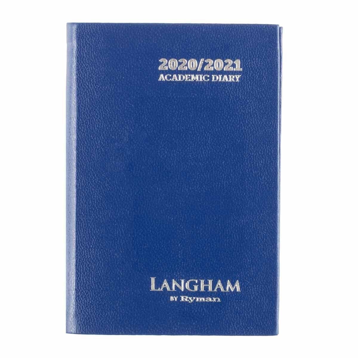 Langham Diary Week to View Pocket 2020-2021 Navy