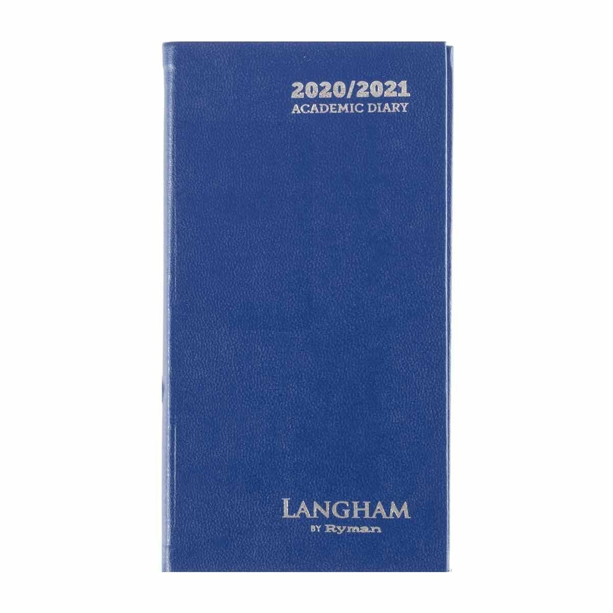 Langham Diary Week to View Slim 2020-2021 Navy
