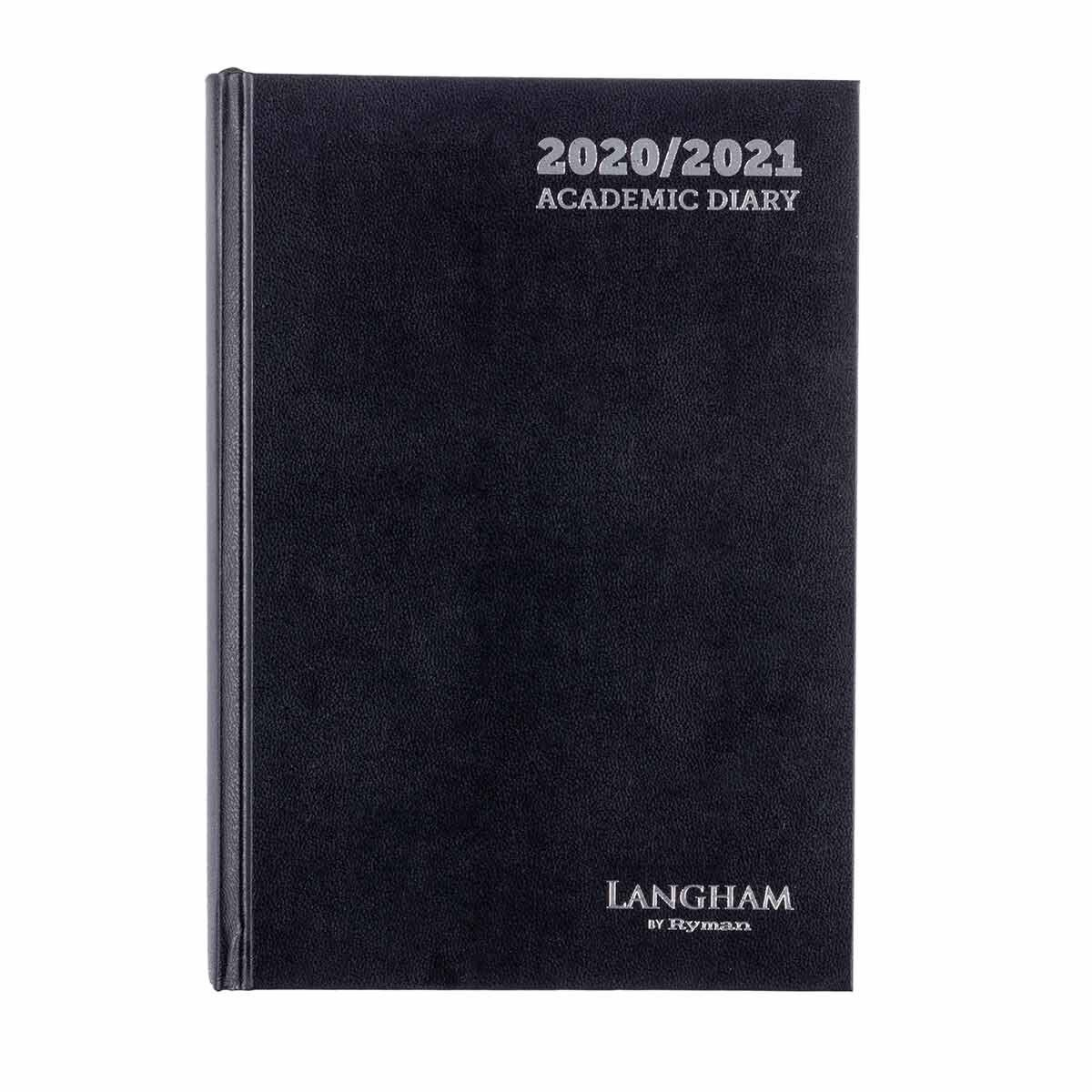 Langham Appointments Diary Page a Day A5 2020-2021 Black