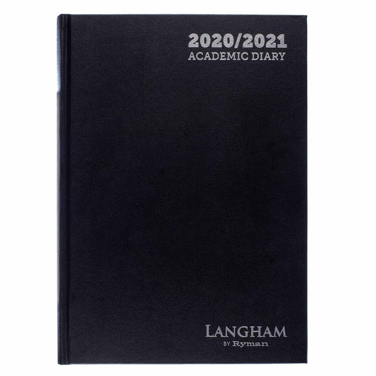Langham Appointments Diary Page a Day A4 2020-2021 Black