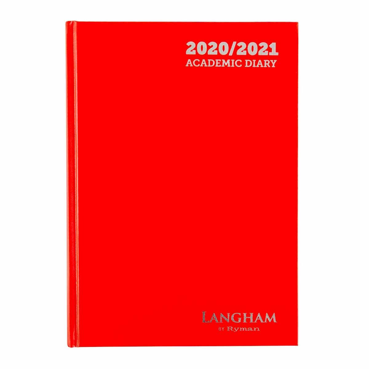 Langham Appointments Diary Page a Day A4 2020-2021 Red