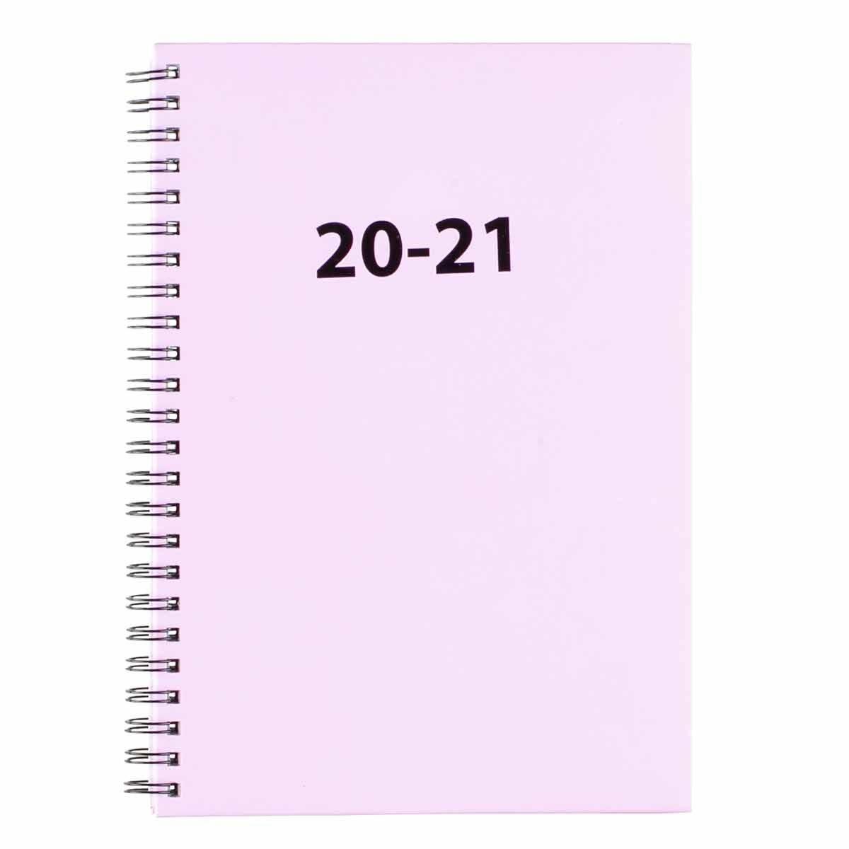 Ryman Wiro Diary Week to View A5 2020-2021 Lilac