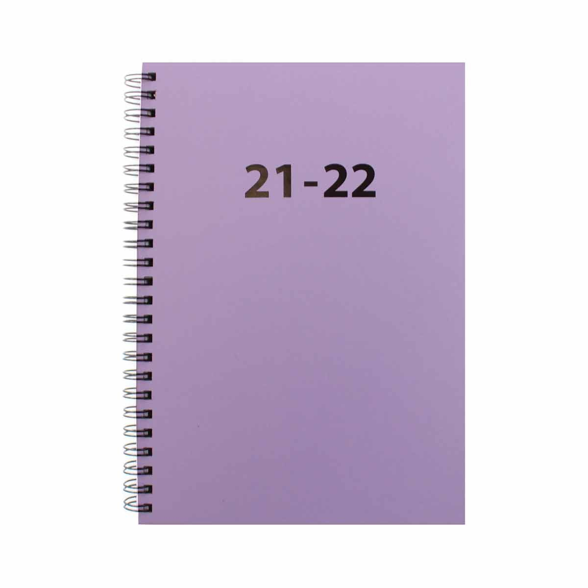 Ryman Student Mid-Year Diary Week to View A5 2021-2022 Lilac