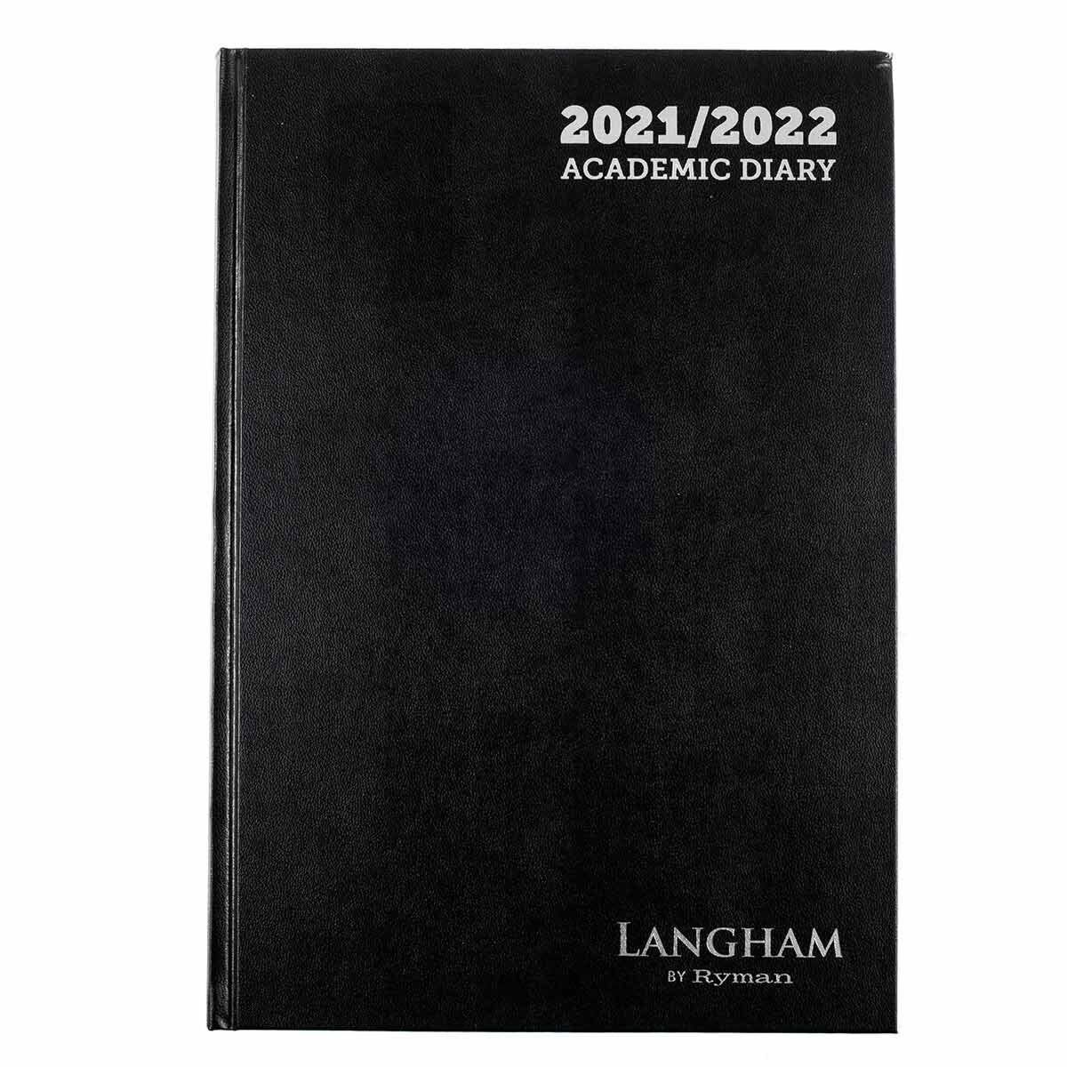 Ryman Langham Academic Appointments Diary Day to View A4 2021