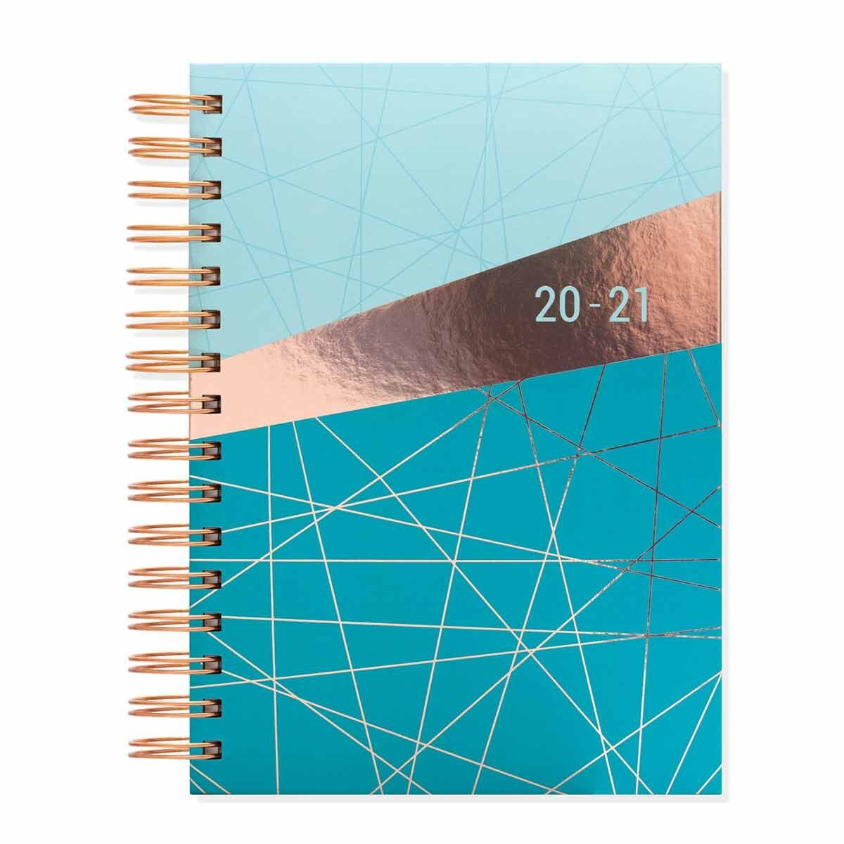 Matilda Myres Geometric Diary Day per Page A5 2020-2021 Teal