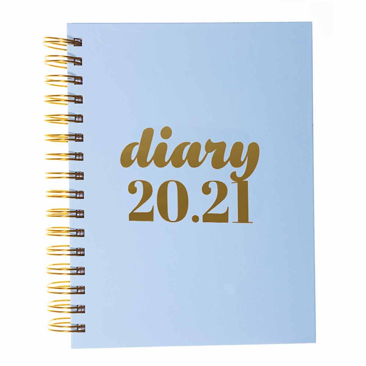Collins Scandi Diary Page a Day A5 2020-2021 Light Blue