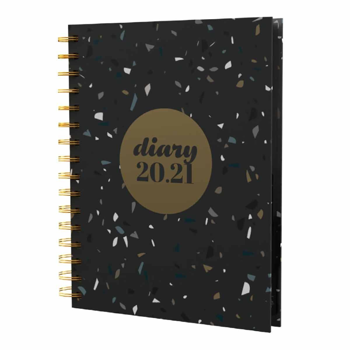 Collins Terrazzo Diary Page a Day A5 2020-2021