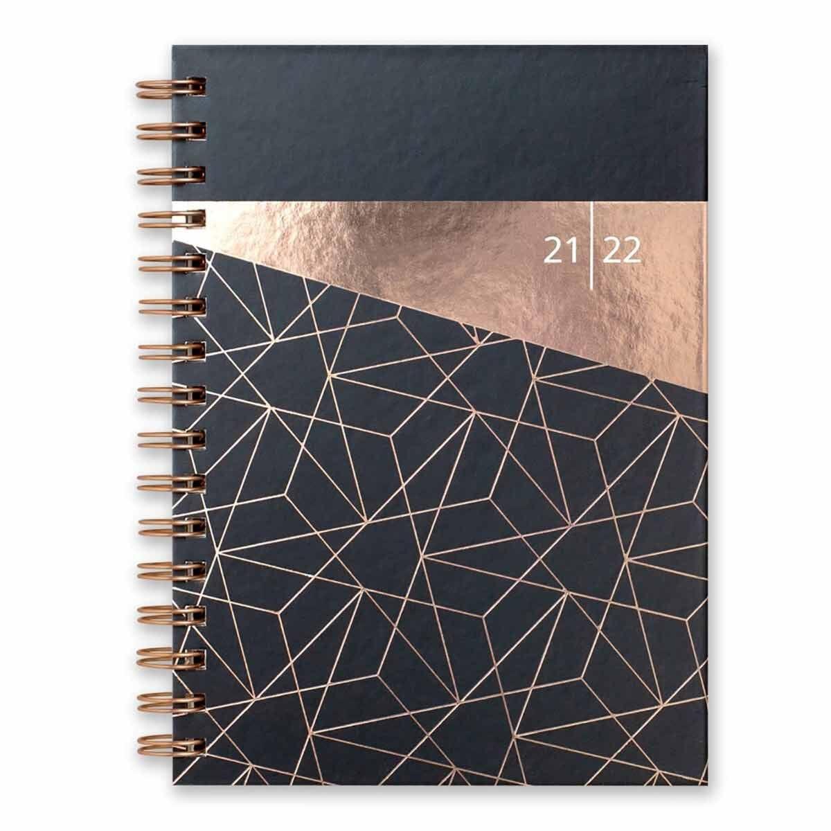 Matilda Myres Academic Diary Week to View A5 2021-2022 Black
