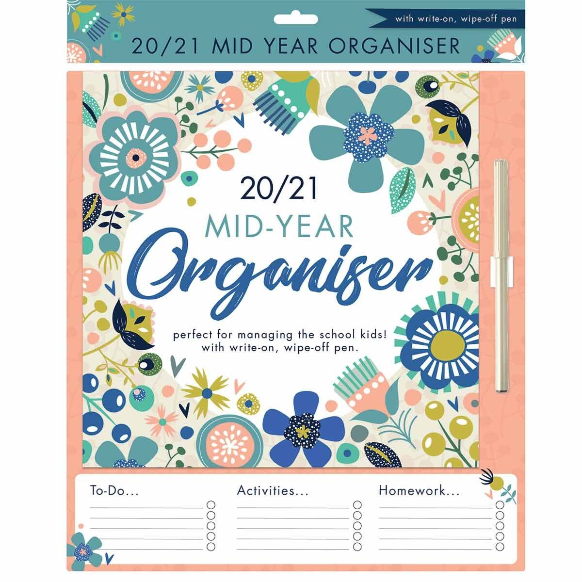 Mums School Year Planner 2020-2021 Floral