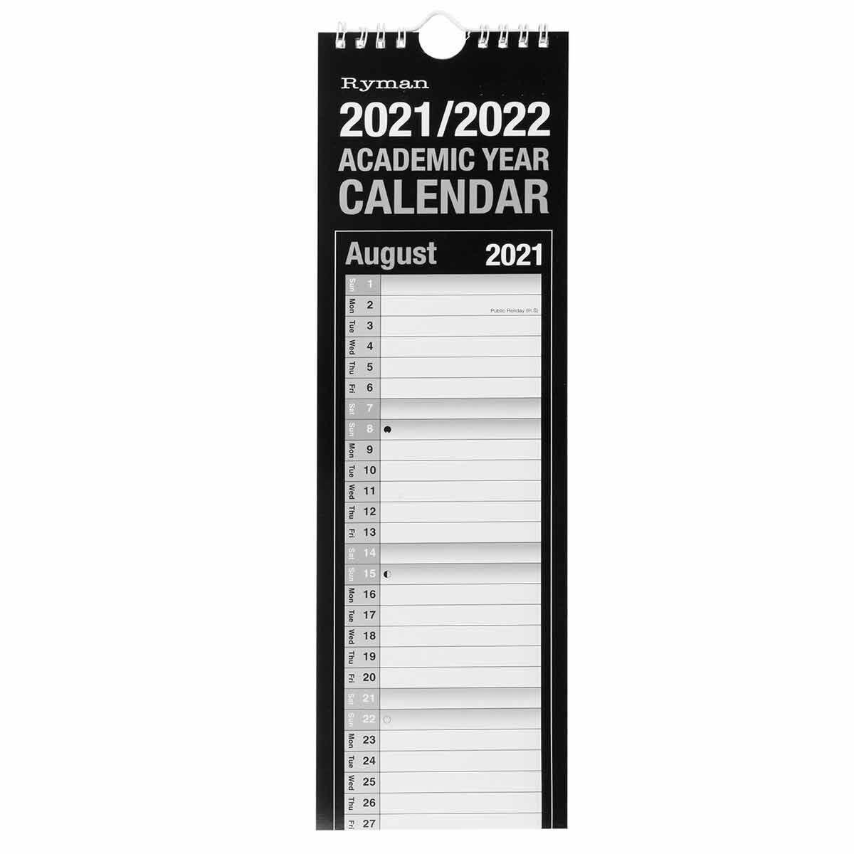 Ryman Academic Calendar Slim 2021