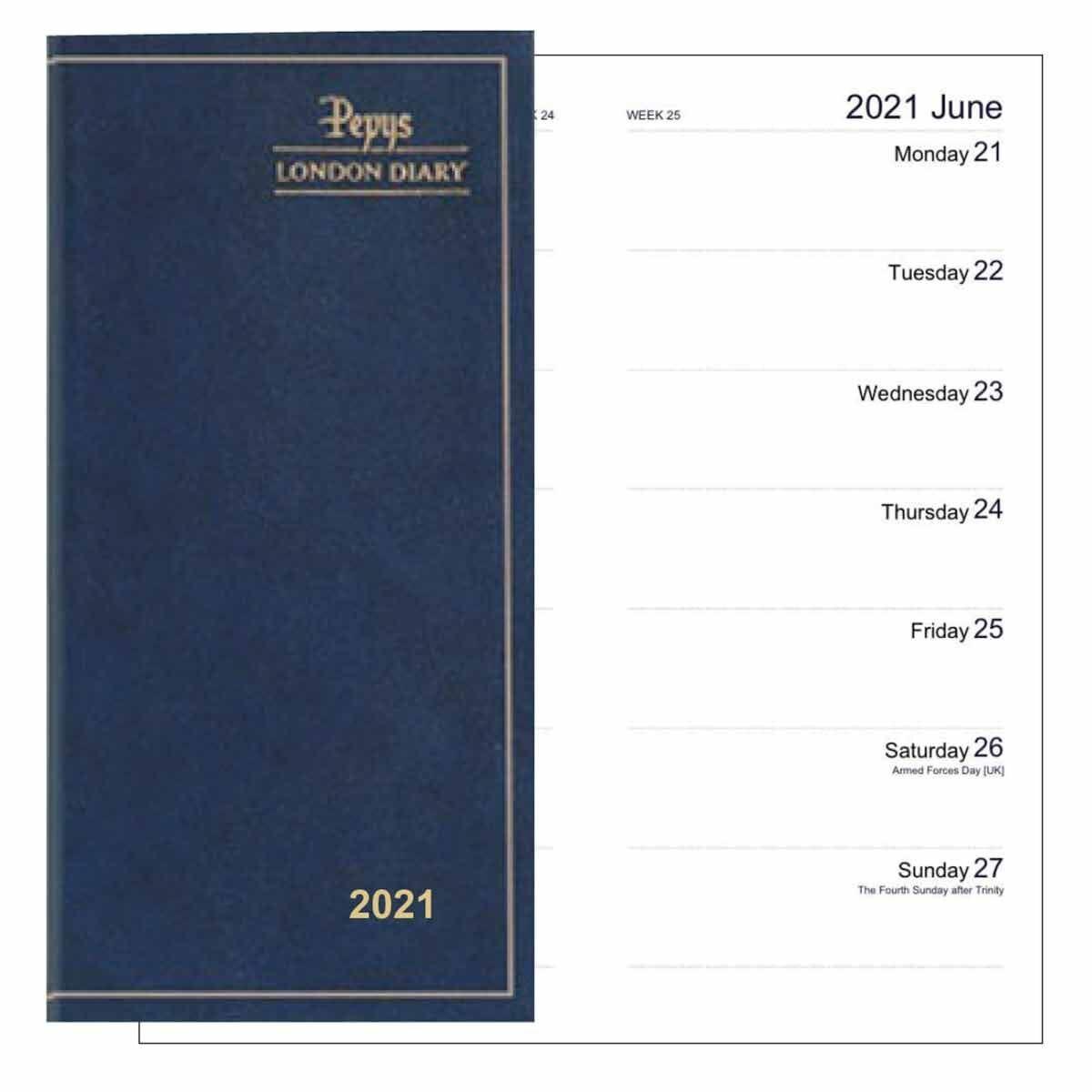 Dataday 2 Week to View Slim Pocket Diary 2021