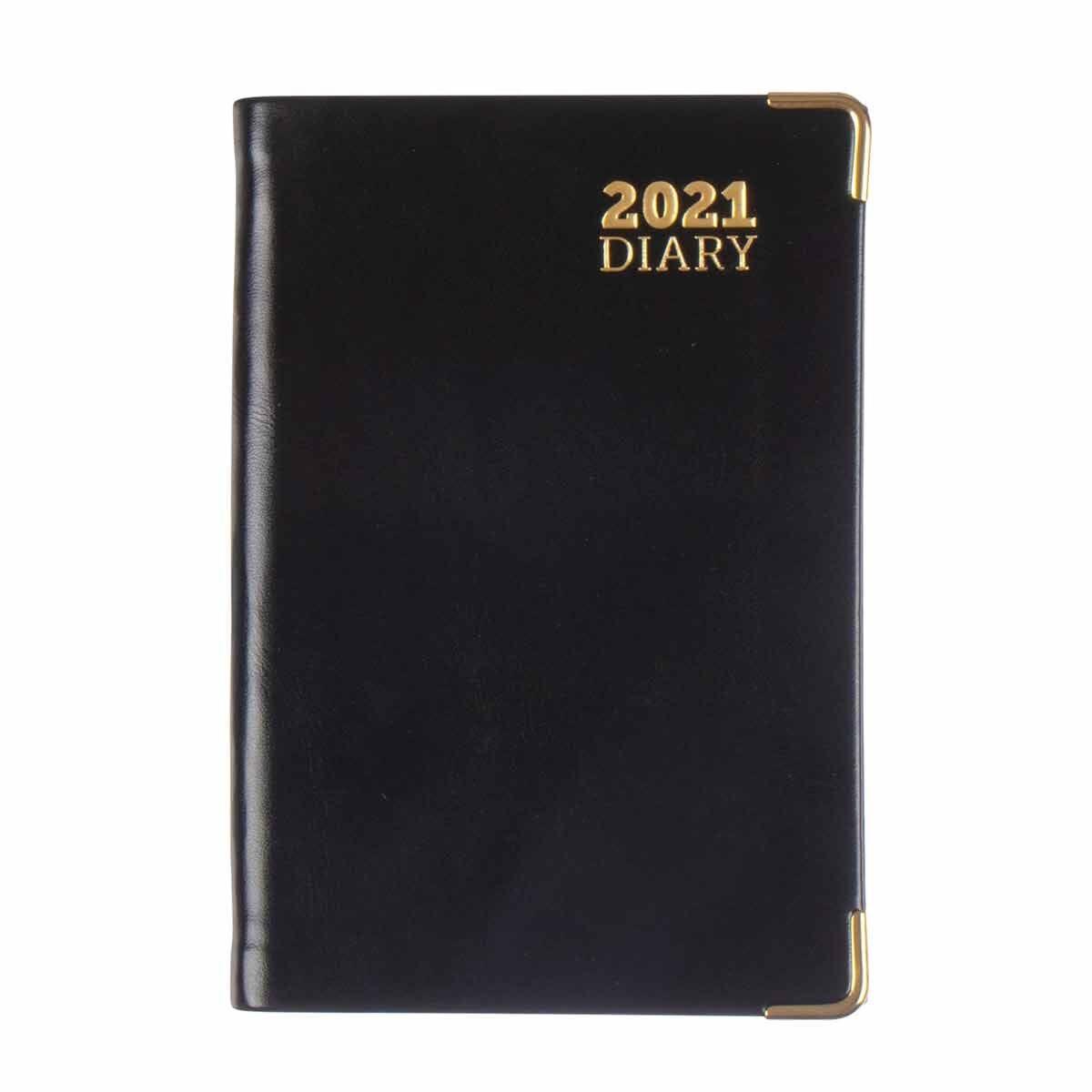 Ryman D2 Diary Week to View Pocket 2021 Black