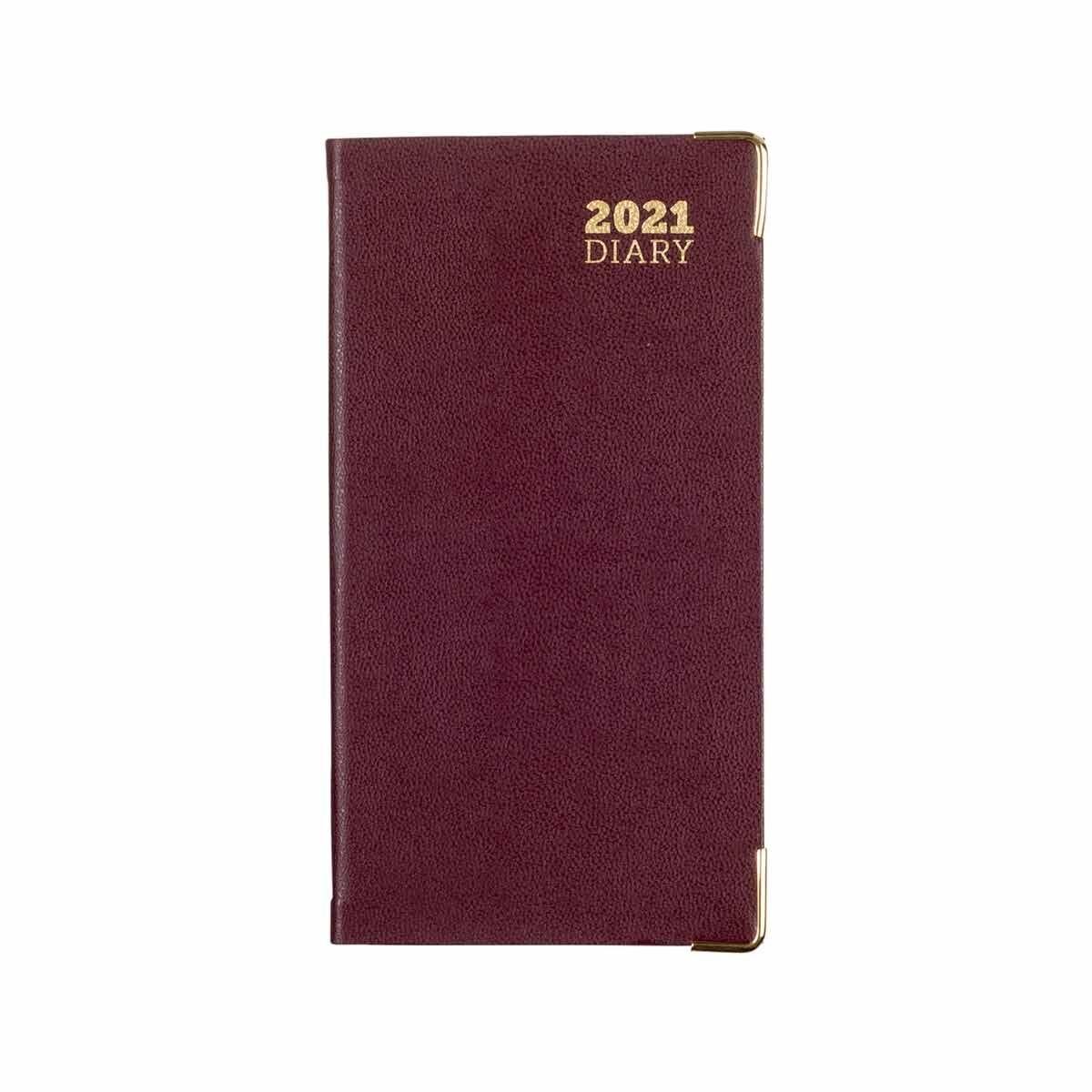 Ryman Diary Month to View Slim 2021 Burgundy