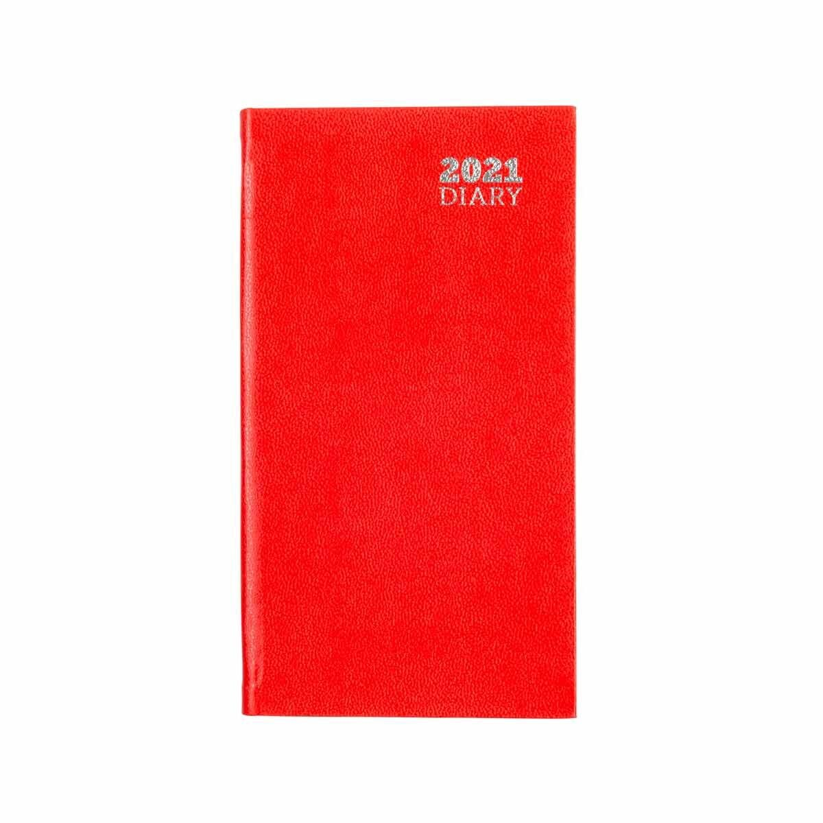 Ryman Diary Week to View Slim 2021 Red