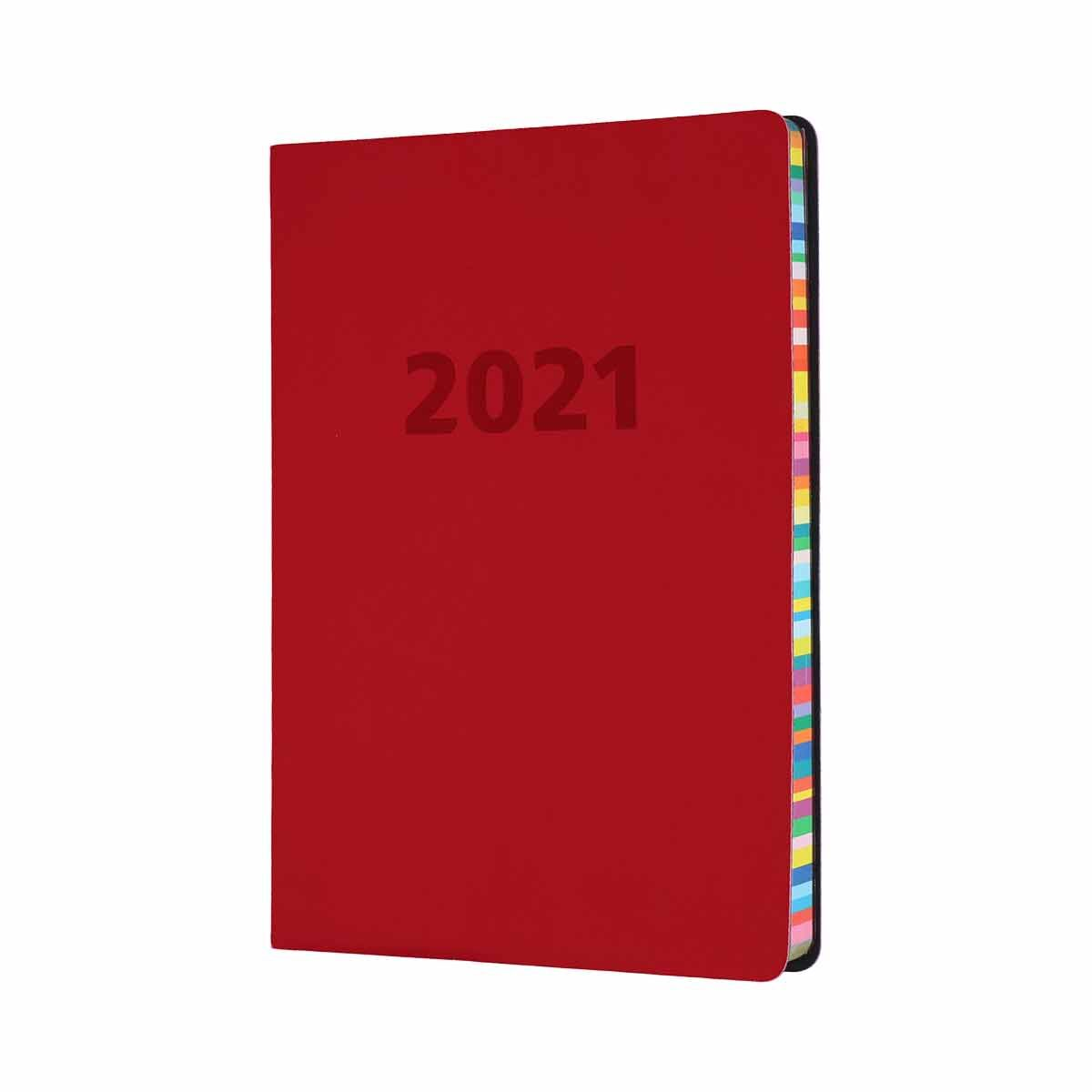 Collins Edge Diary Week to View A5 2021 Red
