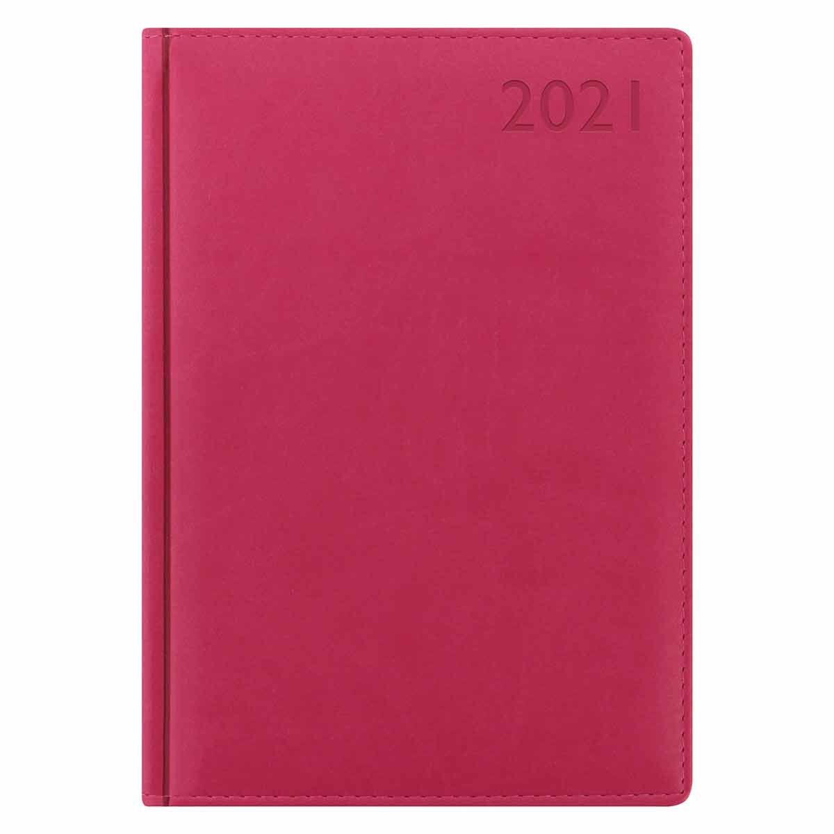 Letts Verona Diary Day to View A5 2021 Raspberry