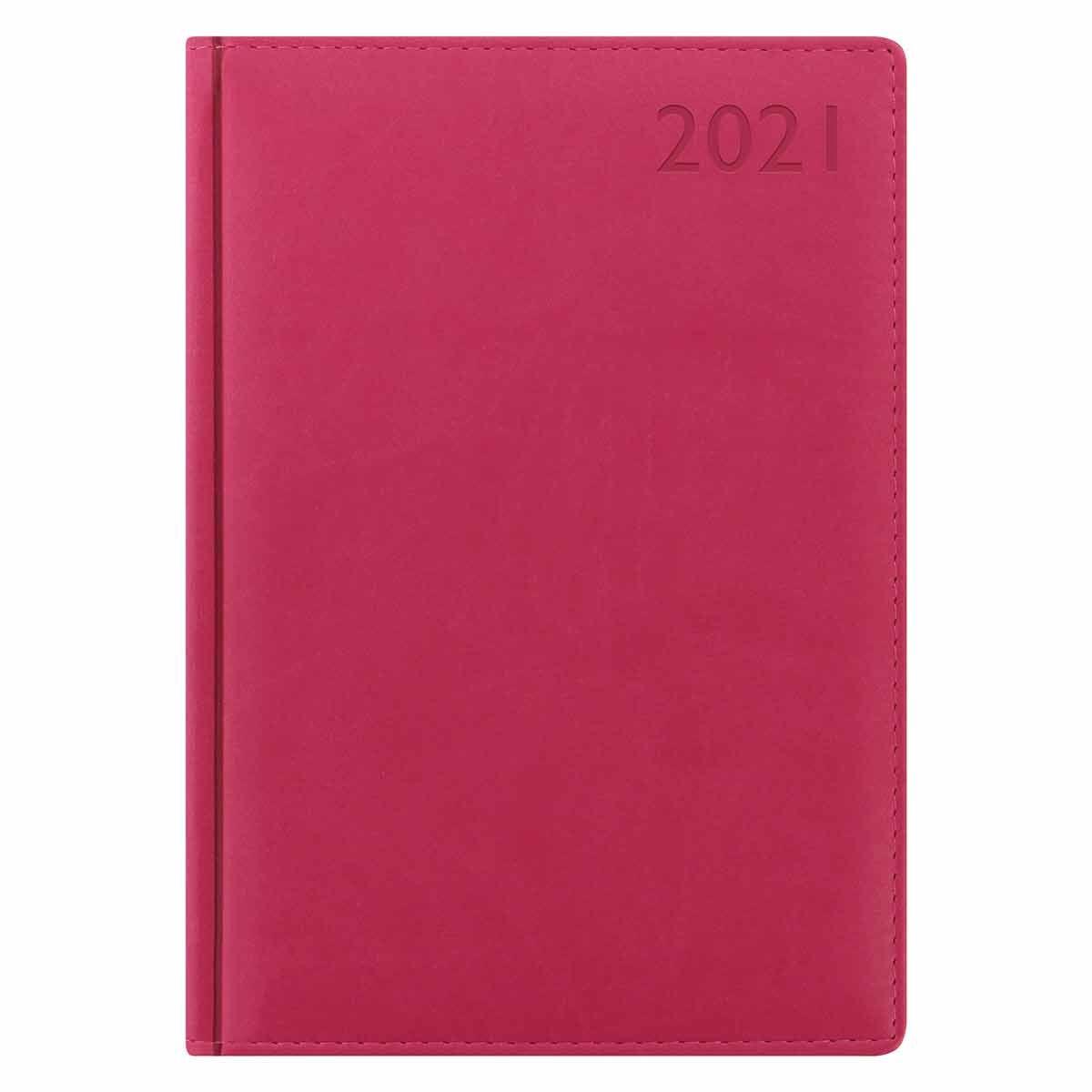 Letts Verona Diary Week to View A5 2021 Raspberry