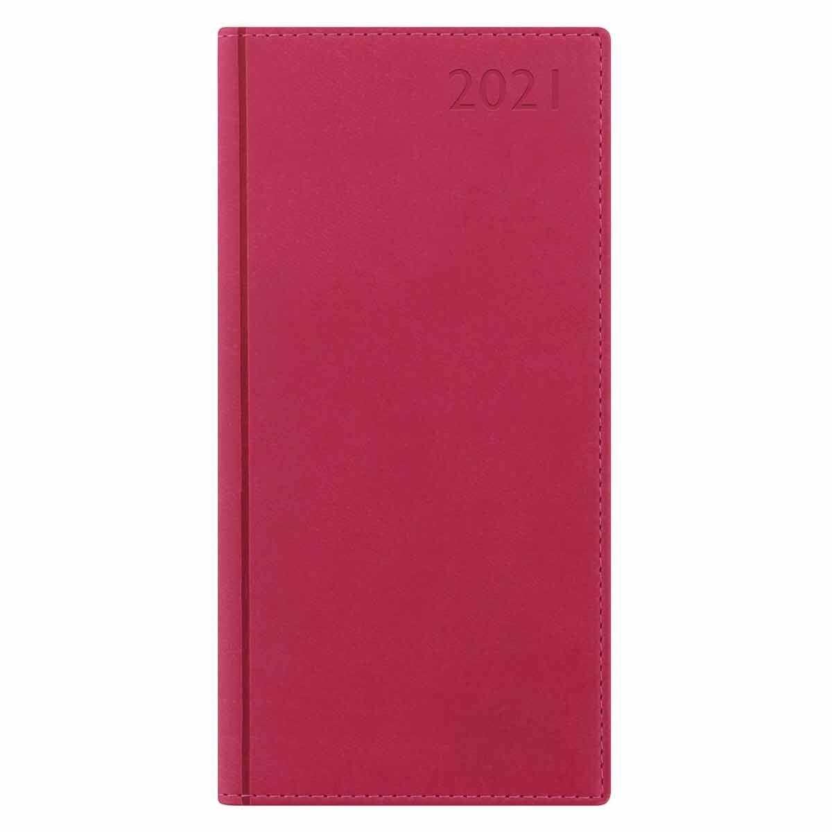 Letts Verona Diary Week to View Slim 2021 Raspberry