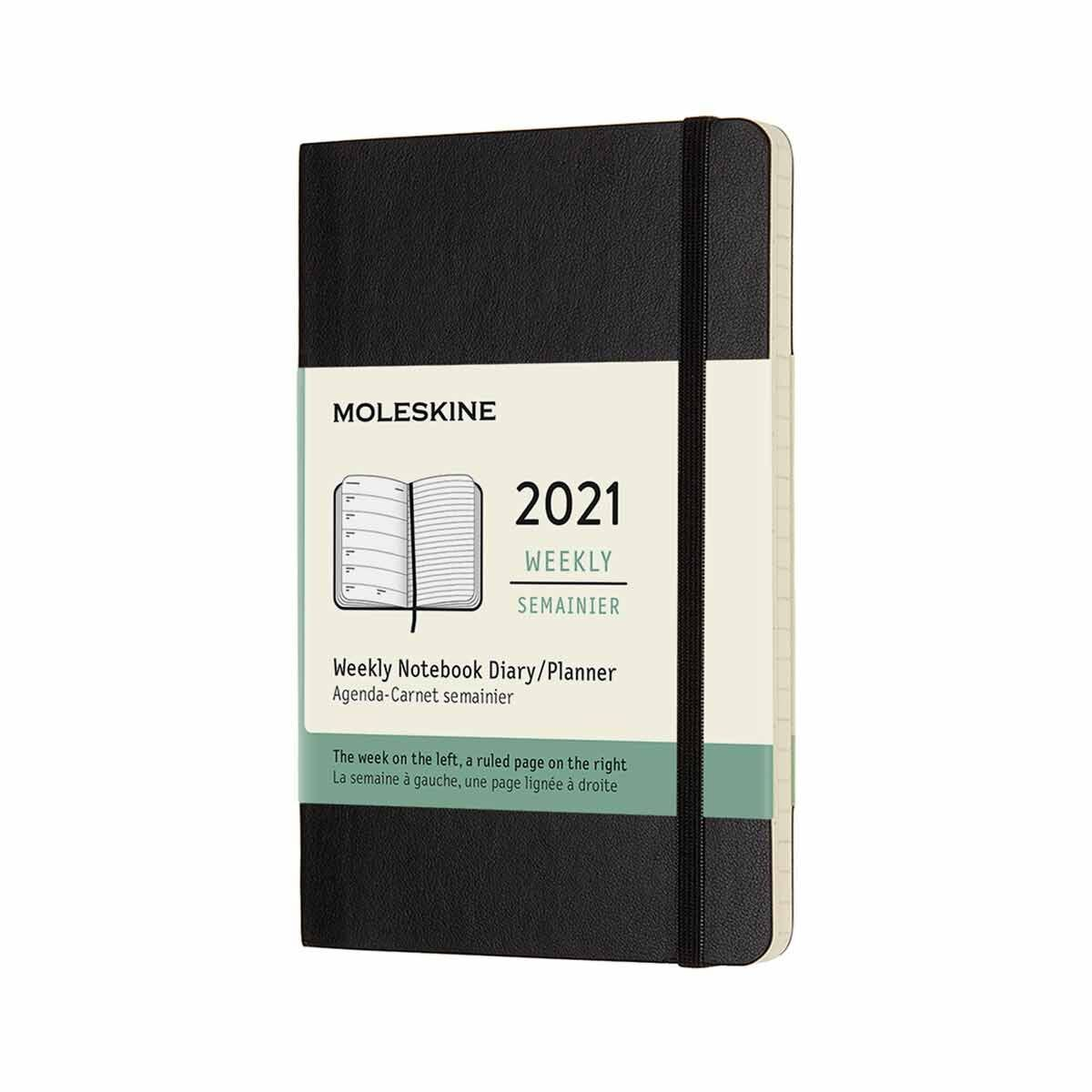 Moleskine Soft Cover Diary Week to View Pocket 2021