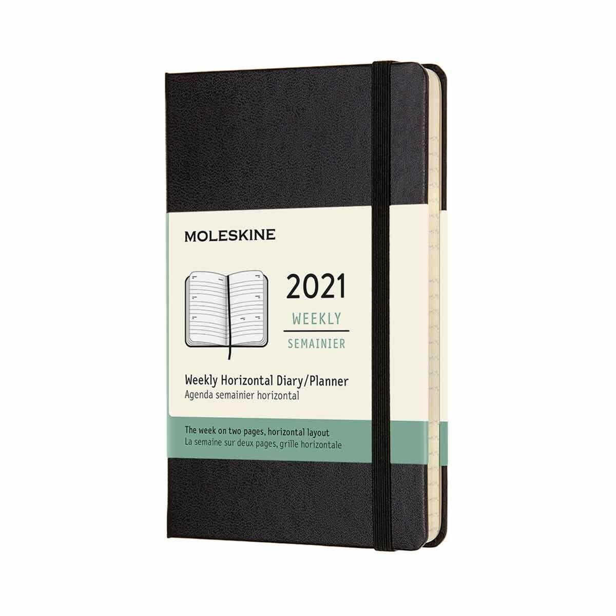 Moleskine Hard Cover Diary Week to View Pocket 2021