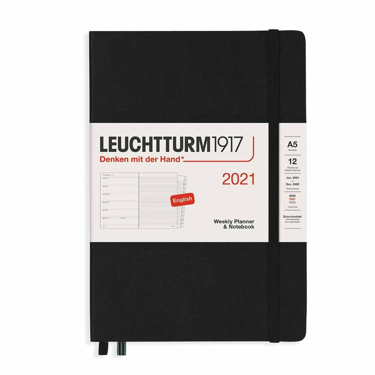 Leuchtturm1917 Hardcover Diary Week to View A5 2021