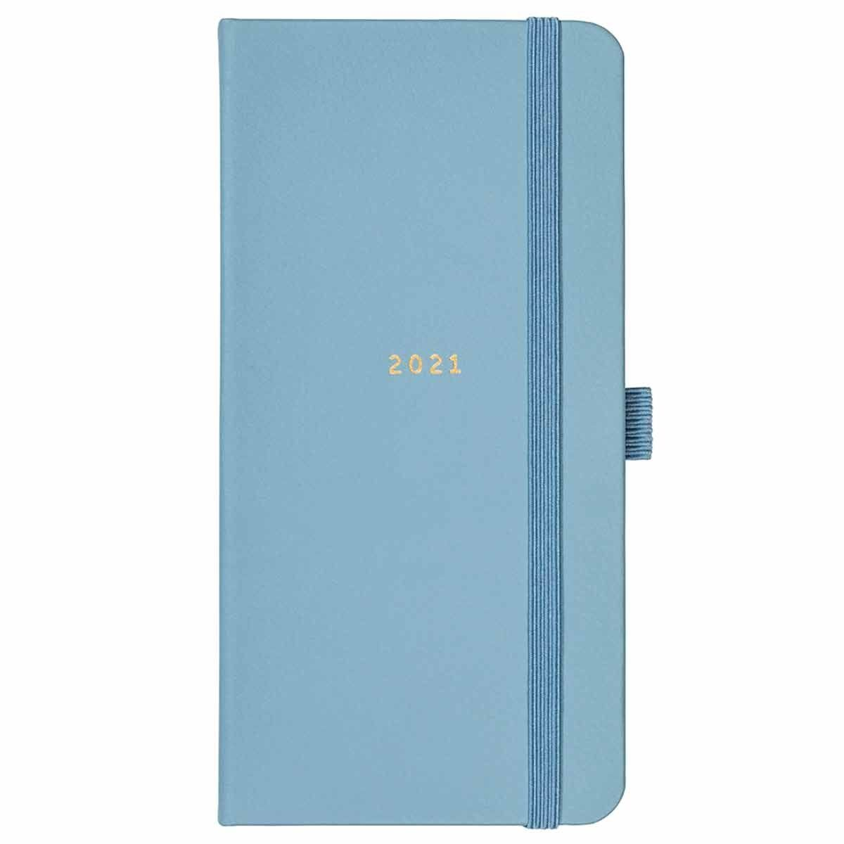 Busy B Slim Diary Week to View 2021 Blue