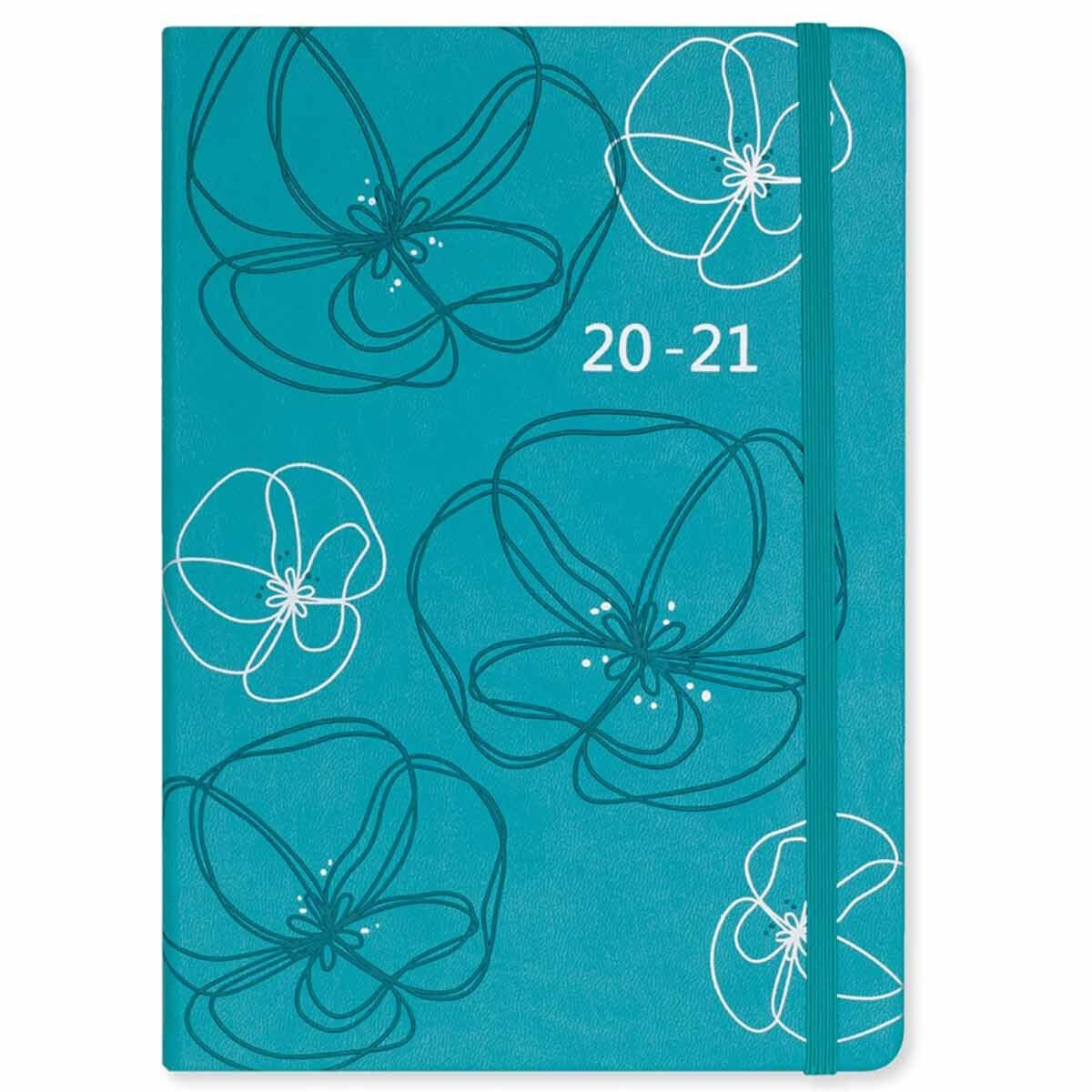 Matilda Myres Soft Touch Diary Week to View A5 2020-2021 Teal
