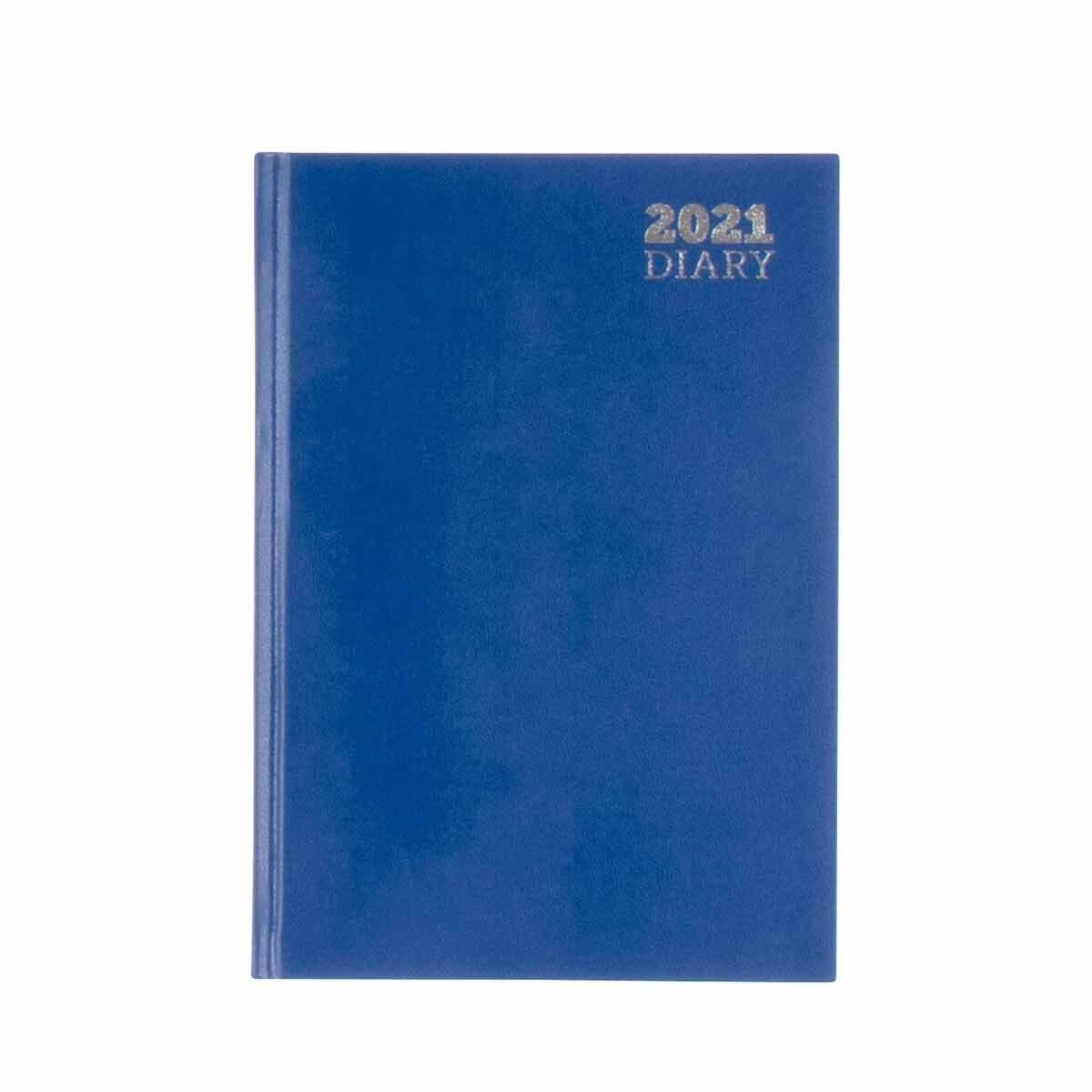 Ryman Diary 2 Days per Page A5 2021 Blue
