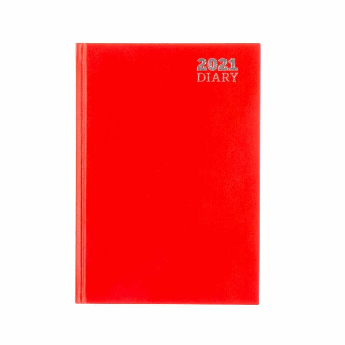 Ryman Diary 2 Days per Page A5 2021 Red
