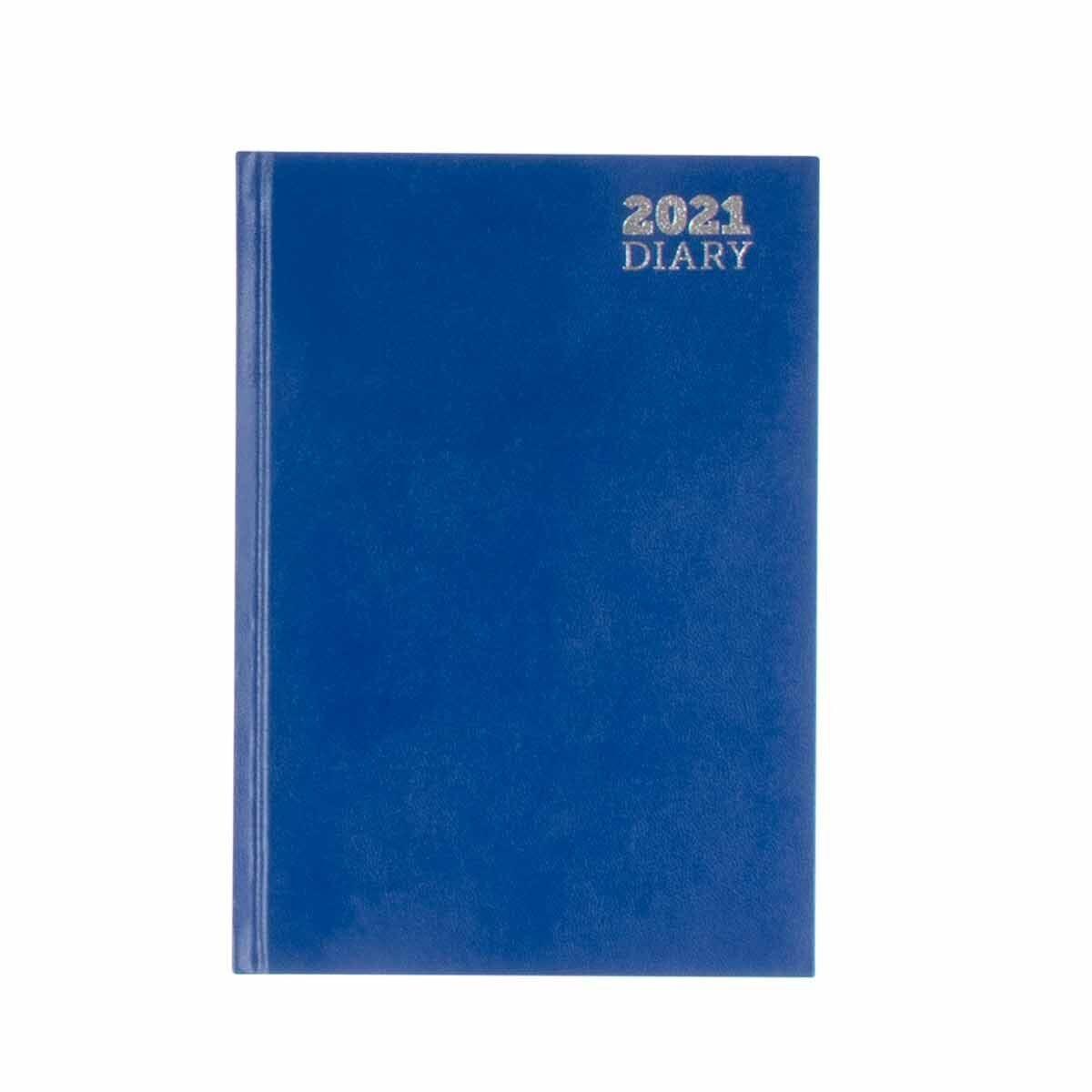 Ryman Diary Week to View A5 2021 Blue