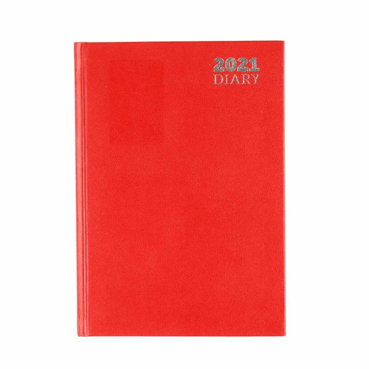 Ryman Diary Week to View A5 2021 Red