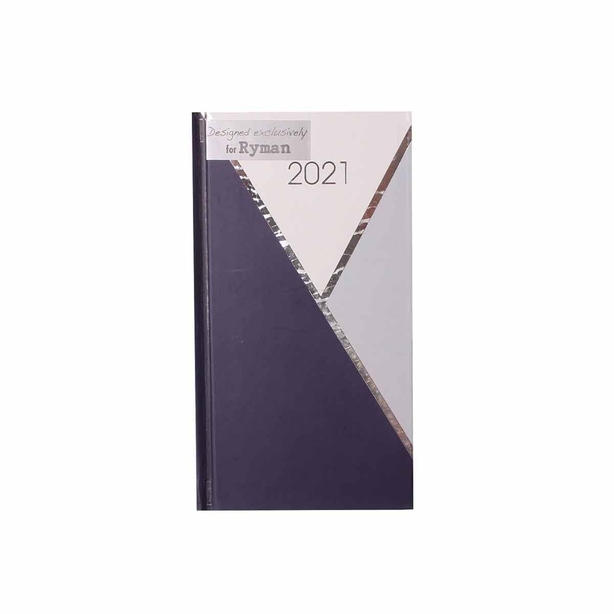 Ryman Monochrome Diary Week to View Slim 2021