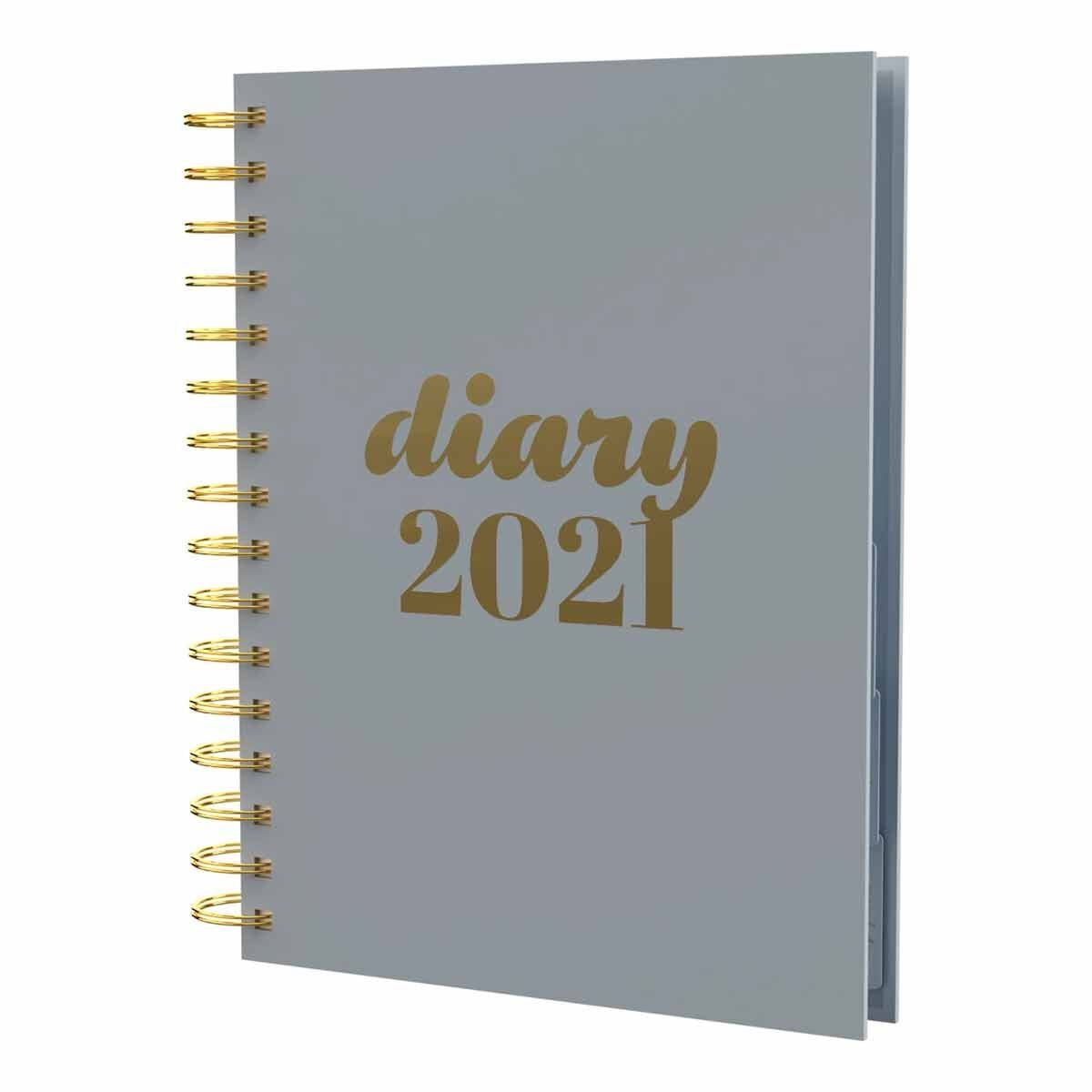 Collins Scandi Diary Day to View A5 2021 Grey