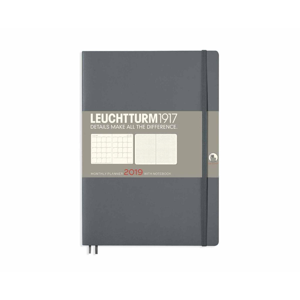 Leuchtturm Monthly Planner B5 2019 Anthracite