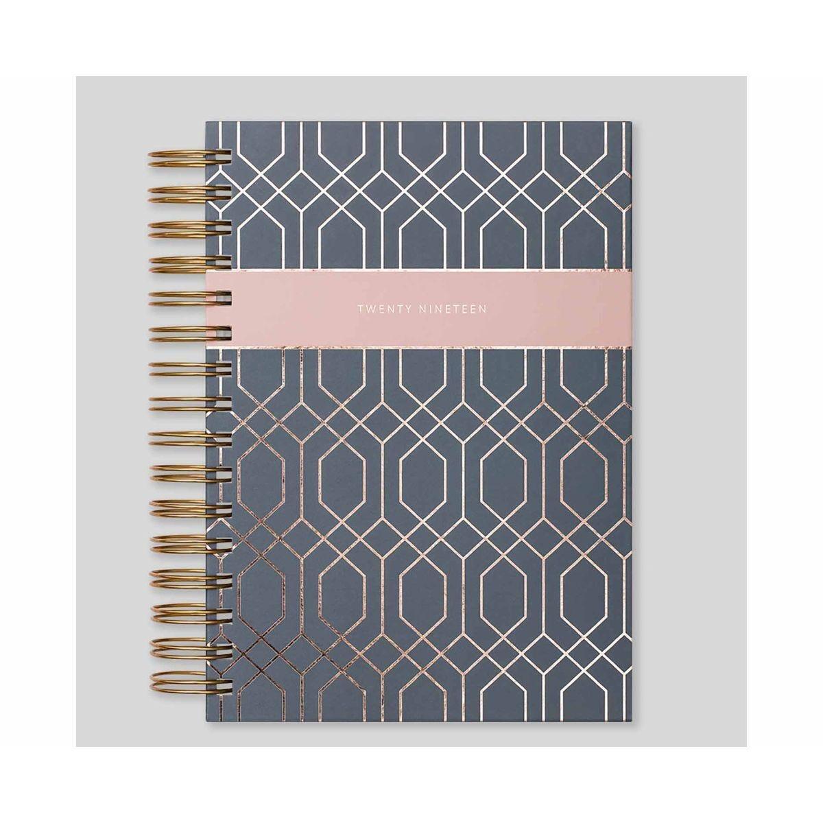 Matilda Myres Geometric Wiro Diary Page a Day A5 2019 Grey