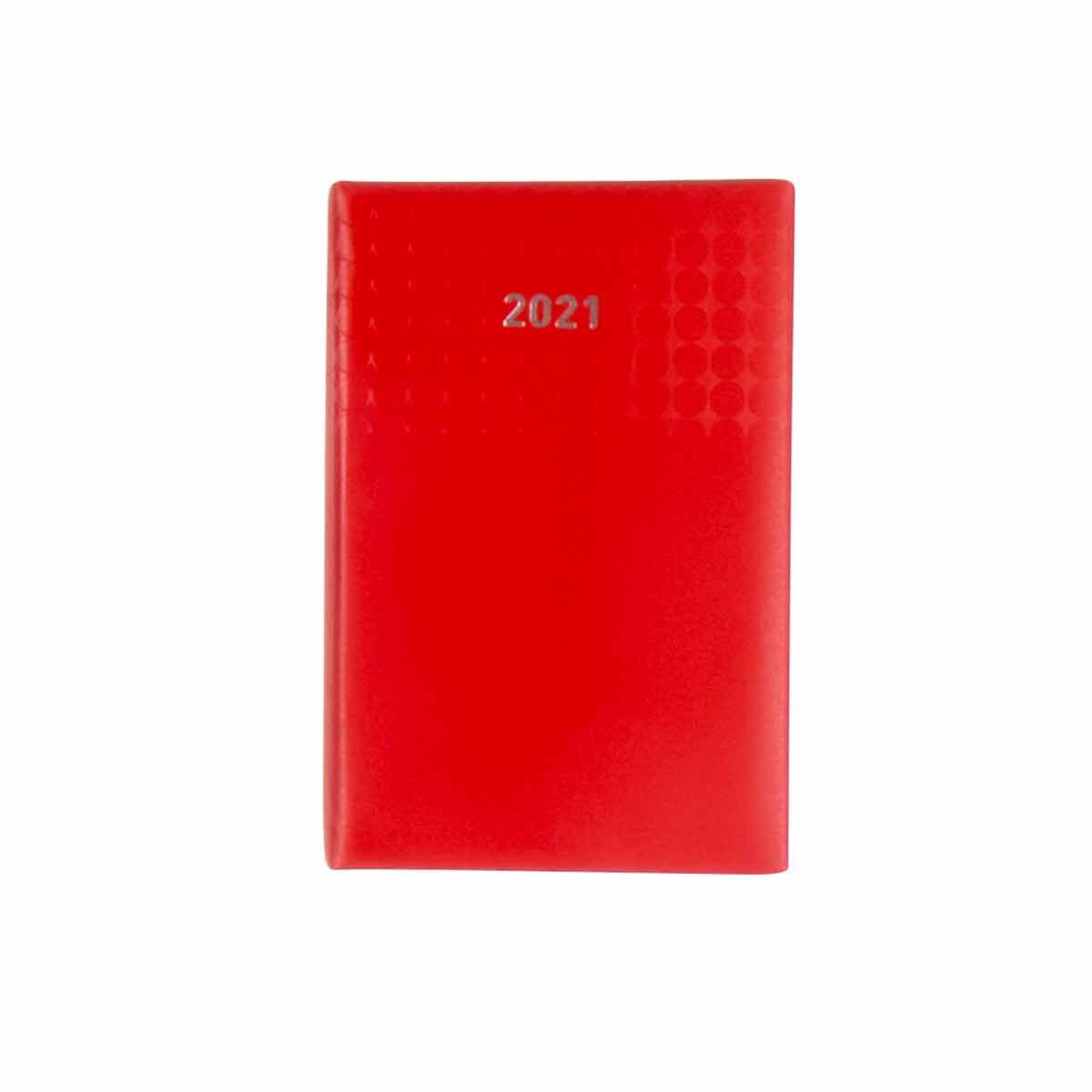 Ryman Langham Diary Day to View Pocket 2021 Red