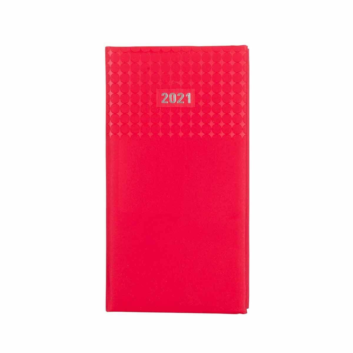 Ryman Langham Diary Day to View Slim 2021 Red