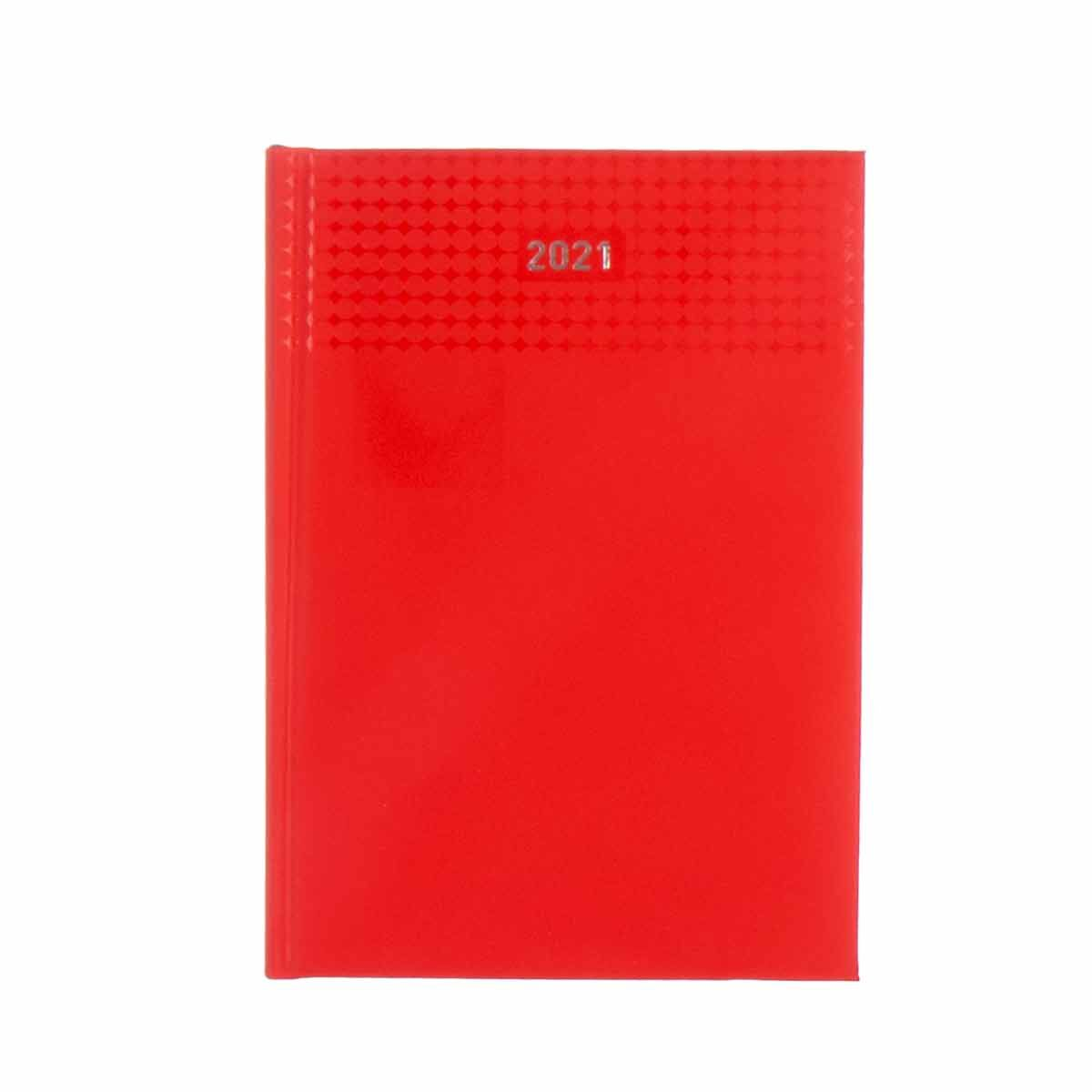 Ryman Langham Diary Day to View A5 2021 Red