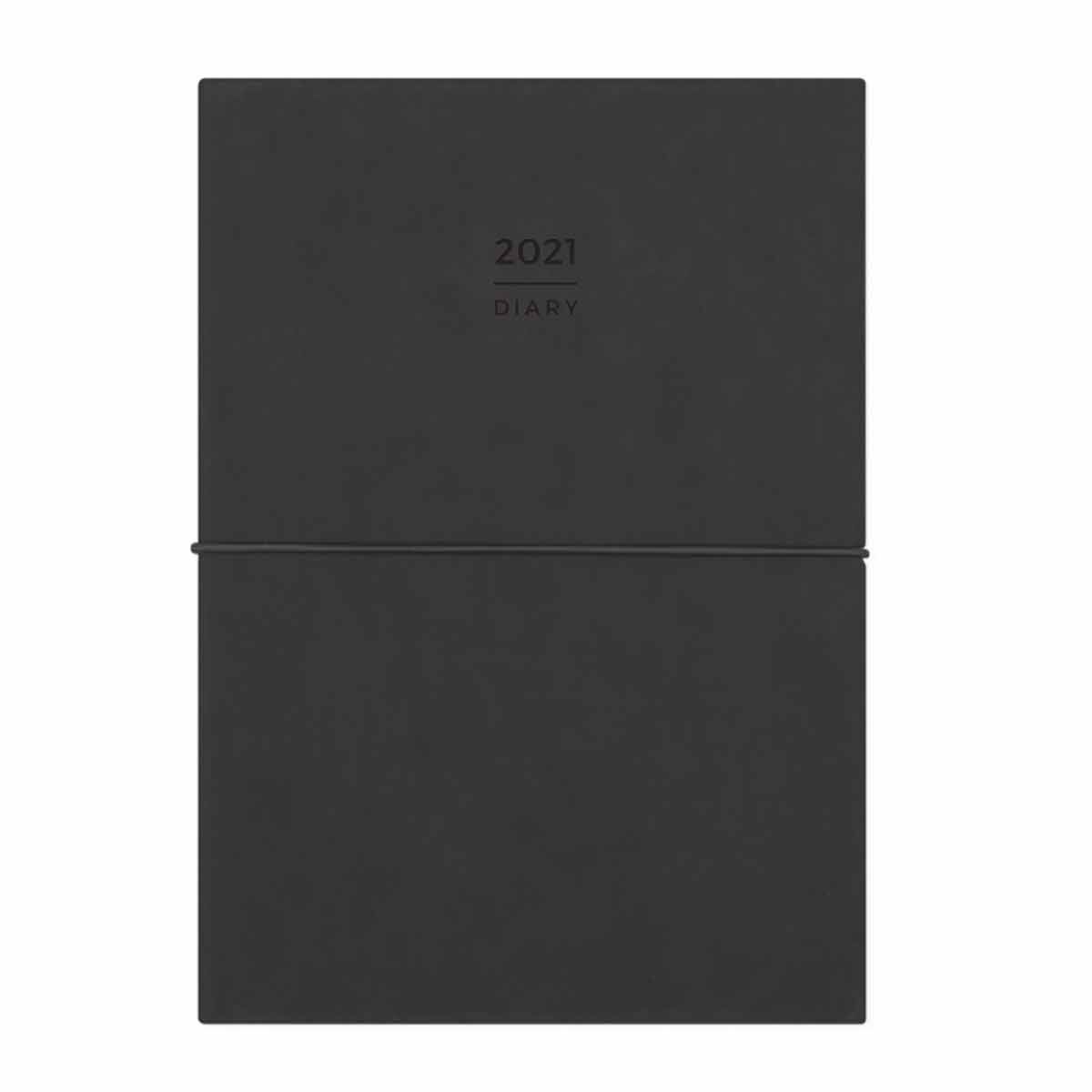 Orchard and Dunne Notebook Diary Week to View A6 2021 Black