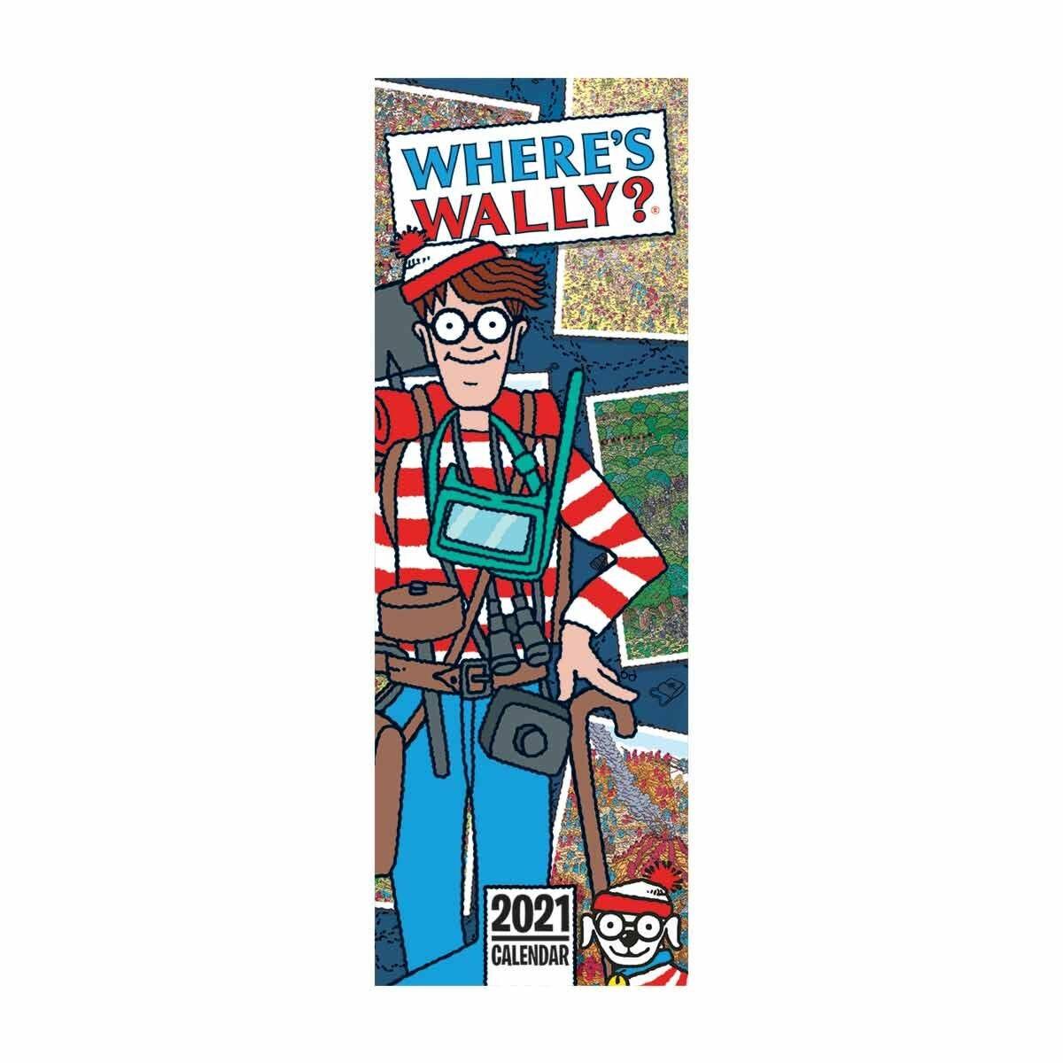 Wheres Wally Slim Calendar 2021
