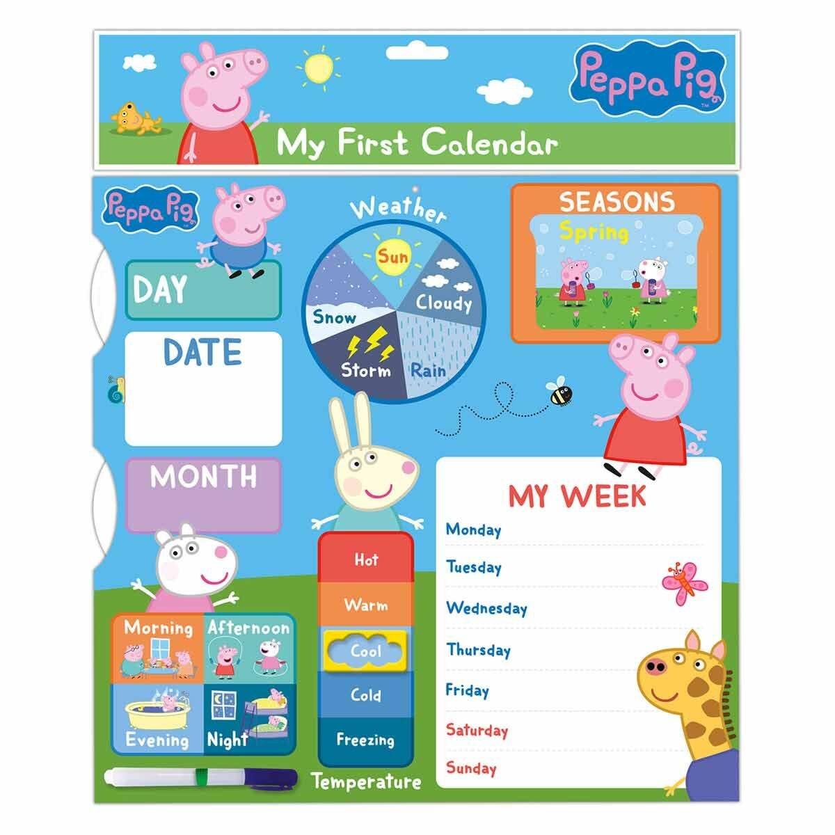 Peppa Pig My First Calendar Wall Calendar 2021