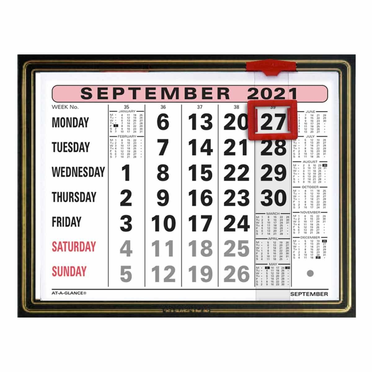 At-A-Glance Ornate Monthly Calendar 2021