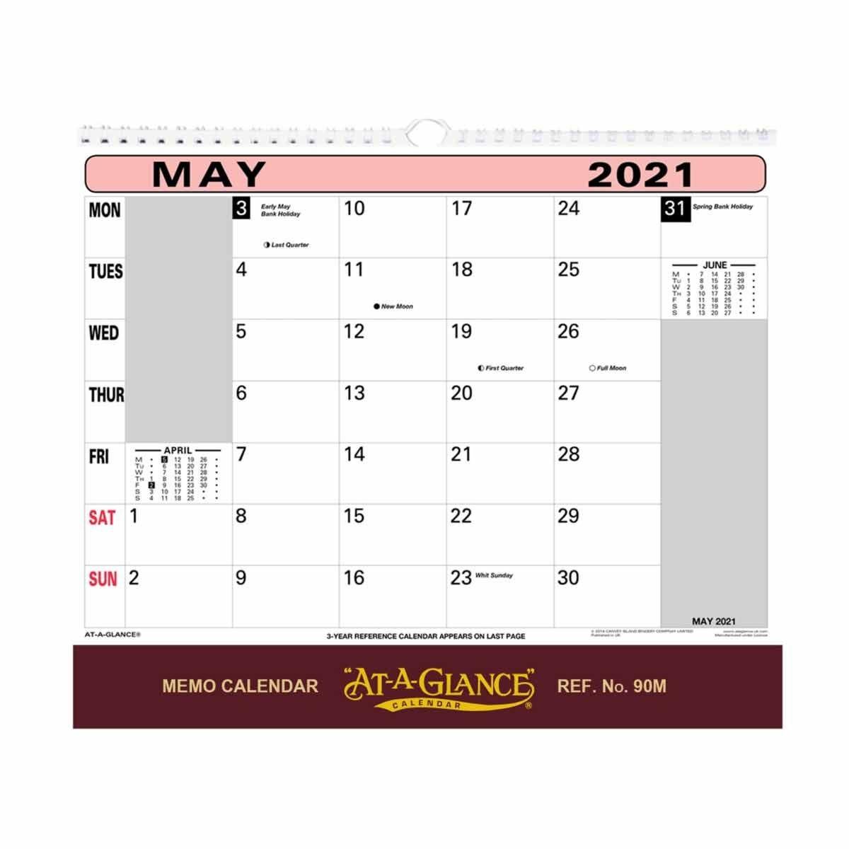 At-A-Glance Wall Flip Calendar 2021
