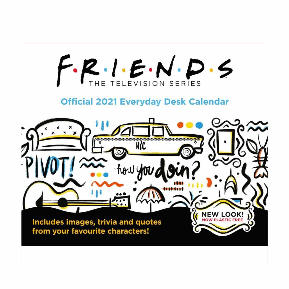 Friends Desk Block Calendar 2021