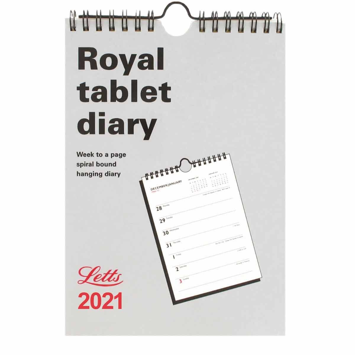 Letts Royal Tablet Calendar Week to View 2021