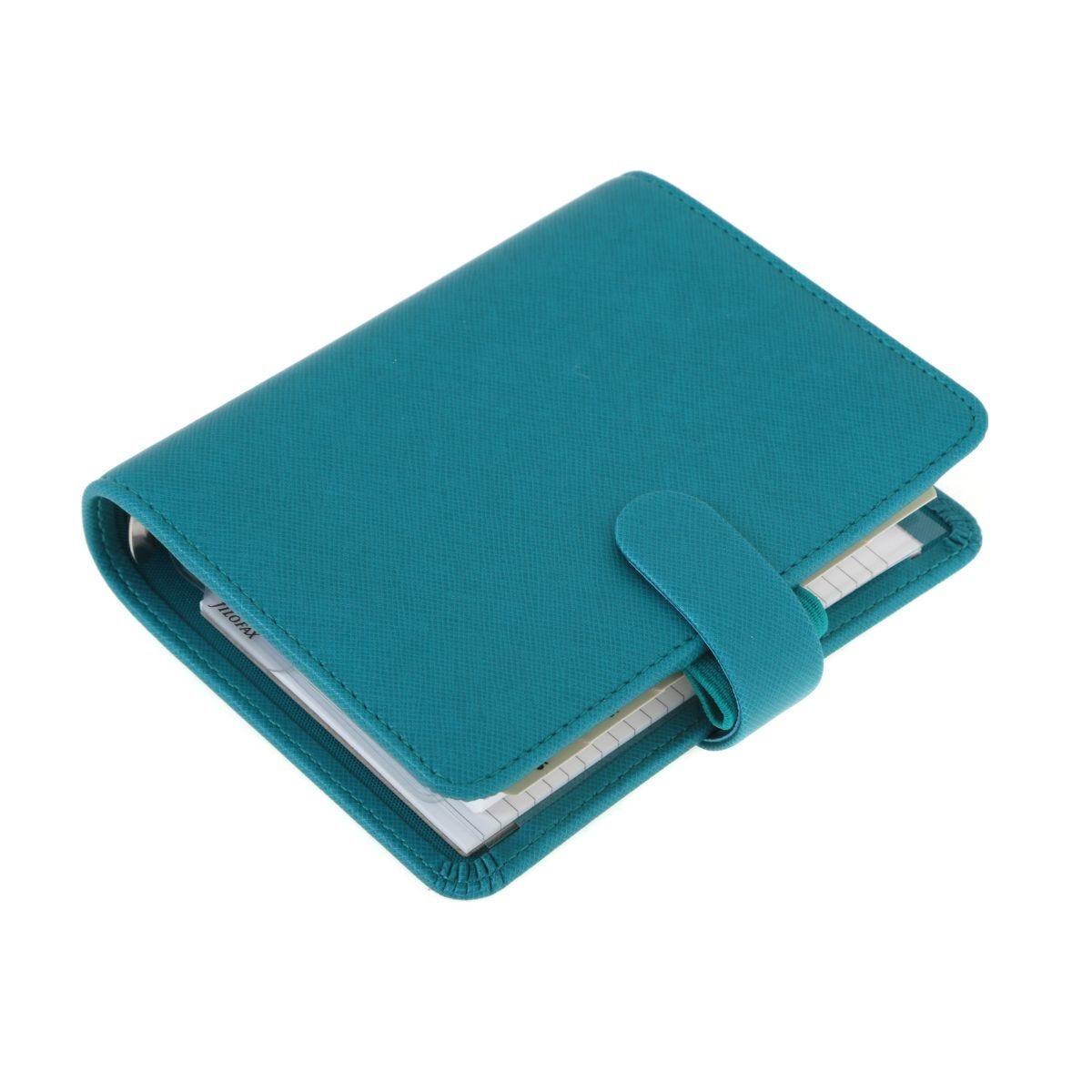 Filofax Pocket Saffiano Aqua Organiser