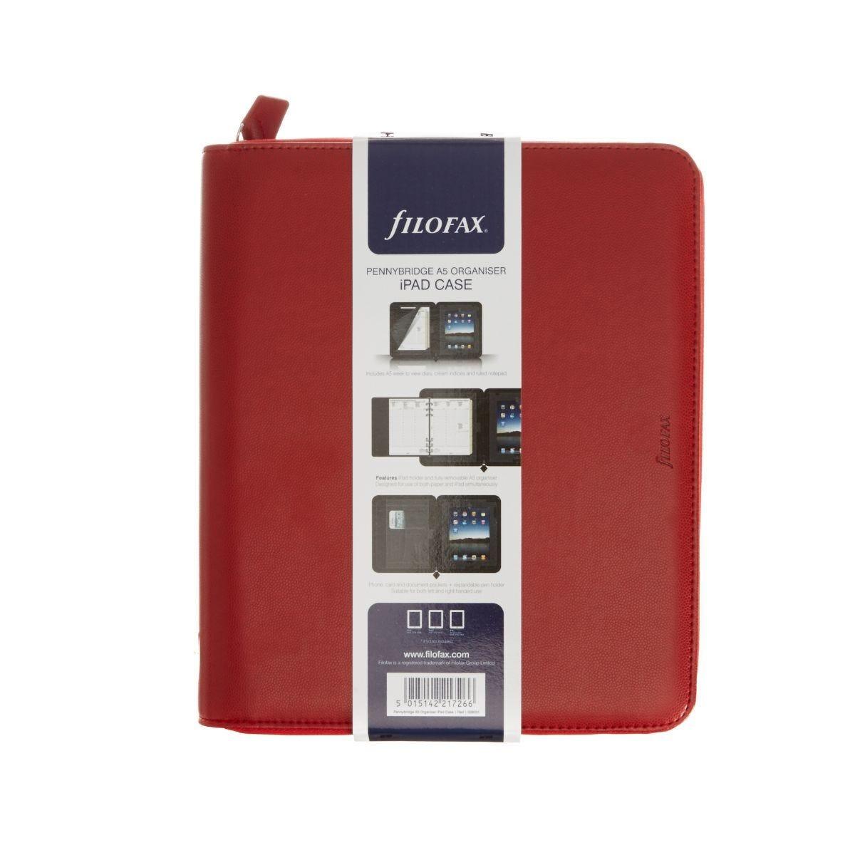 Filofax Pennybridge A5 Organiser with iPad Holder Red