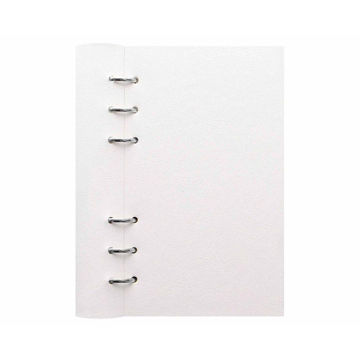 Filofax Refillable Clipbook Planner Personal White